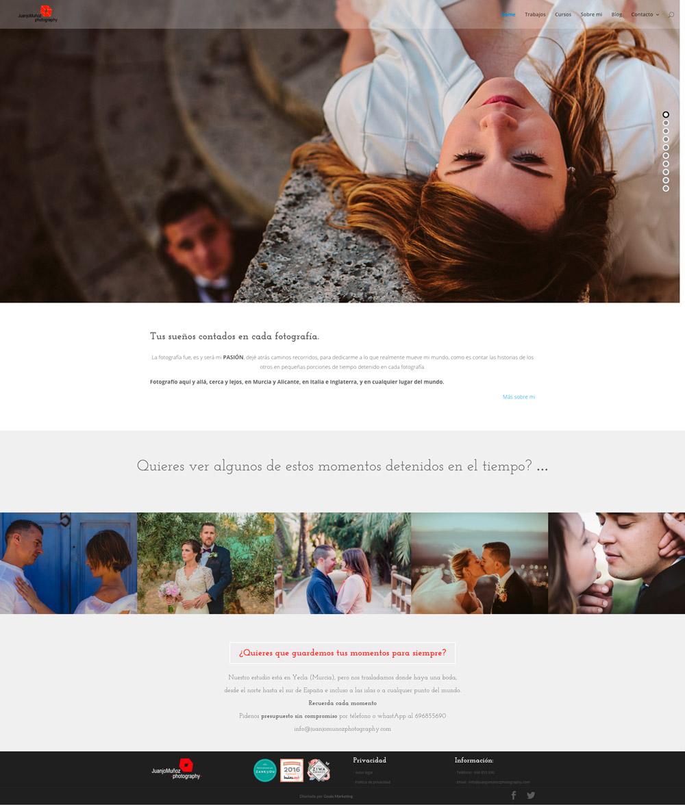 diseño web fotografía juanjo muñoz