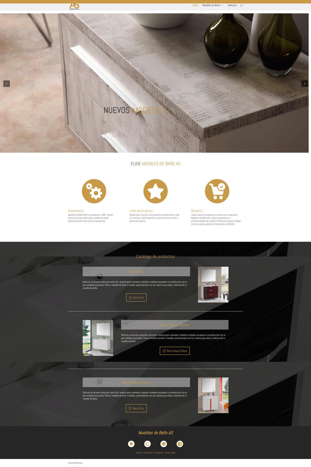 Diseño web muebles de baño