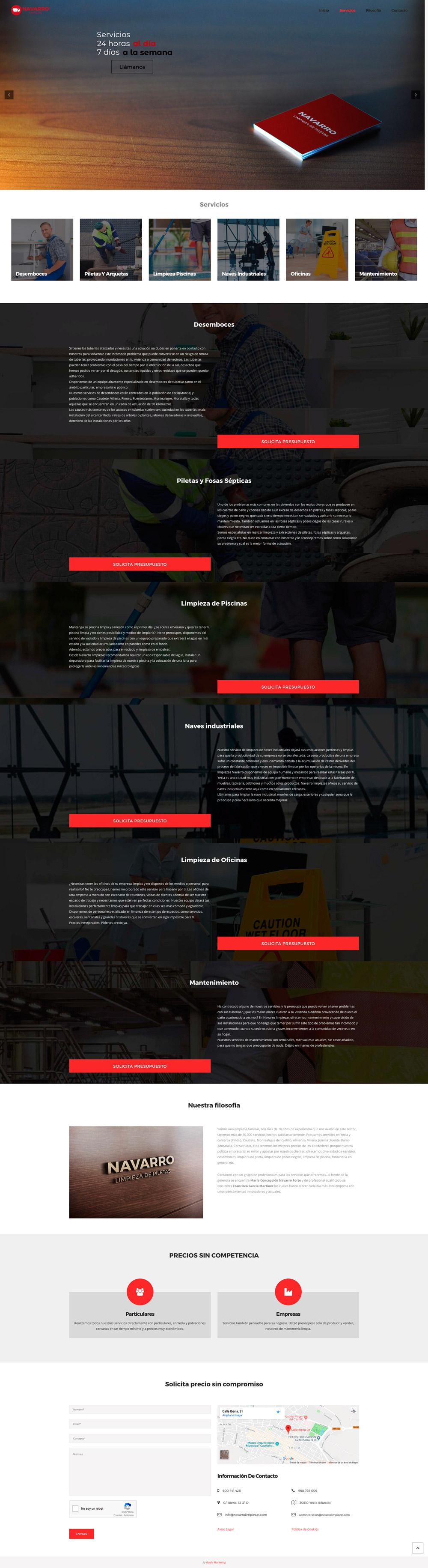 diseño web navarro limpiezas