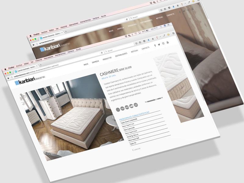 Diseño web Karibian Descanso
