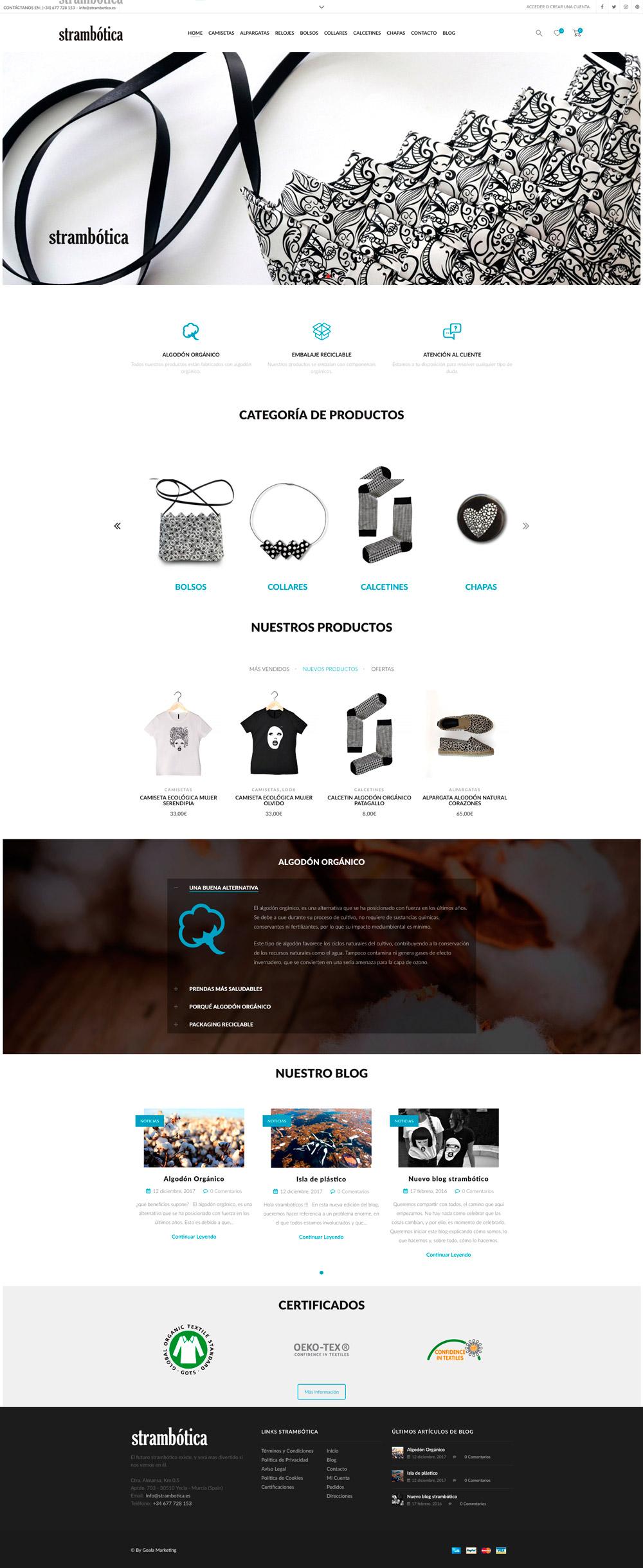 Tienda Online ropa y complementos strambótica