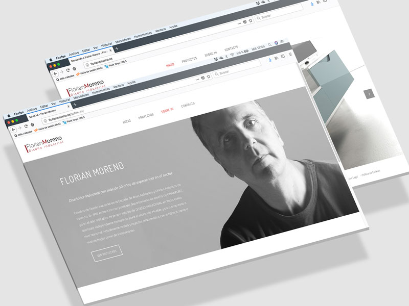 Diseño Página web Florian Moreno