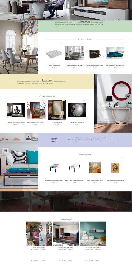 Diseño tienda online decoración y tapiceria Tendencias interiorismo